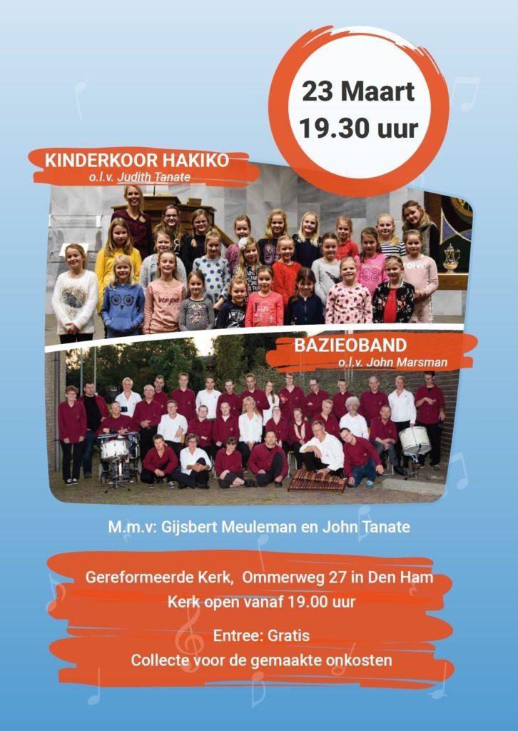 Concert Bazieoband en Kinderkoor Hakiko @ Gereformeerde kerk Den Ham | Den Ham | Overijssel | Nederland