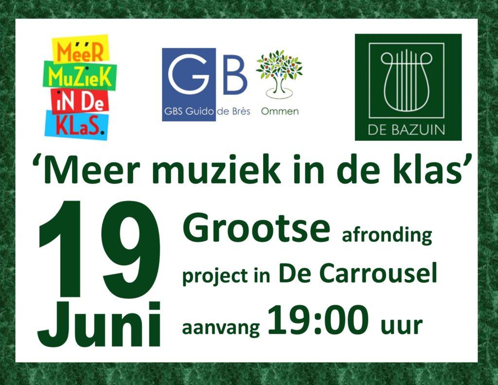 Project 'Meer muziek in de klas' @ De Carrousel | Ommen | Overijssel | Nederland